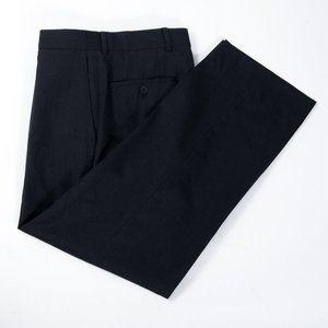 Hugo Boss Charcoal Gray Flat Front Dress Pants